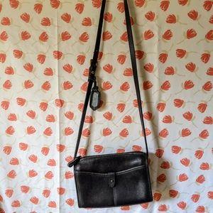 Vintage leather Liz Claiborne messenger bag